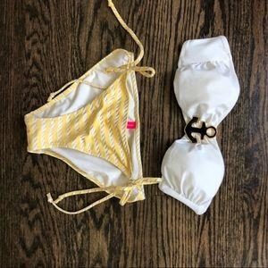 Victoria's Secret bandeau bikini nautical